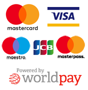 We accept Mastercard, Visa, Visa Debit, Maestro
